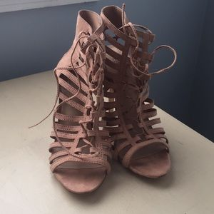 Forever 21 lace-up heels